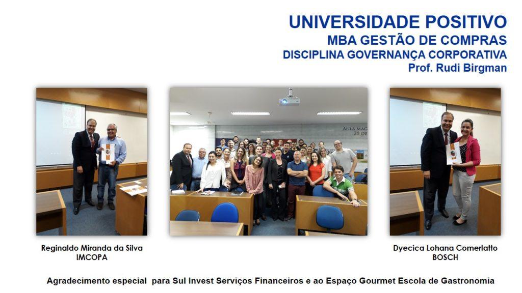 Encerramento Disciplina de Governança Corporativa - UP