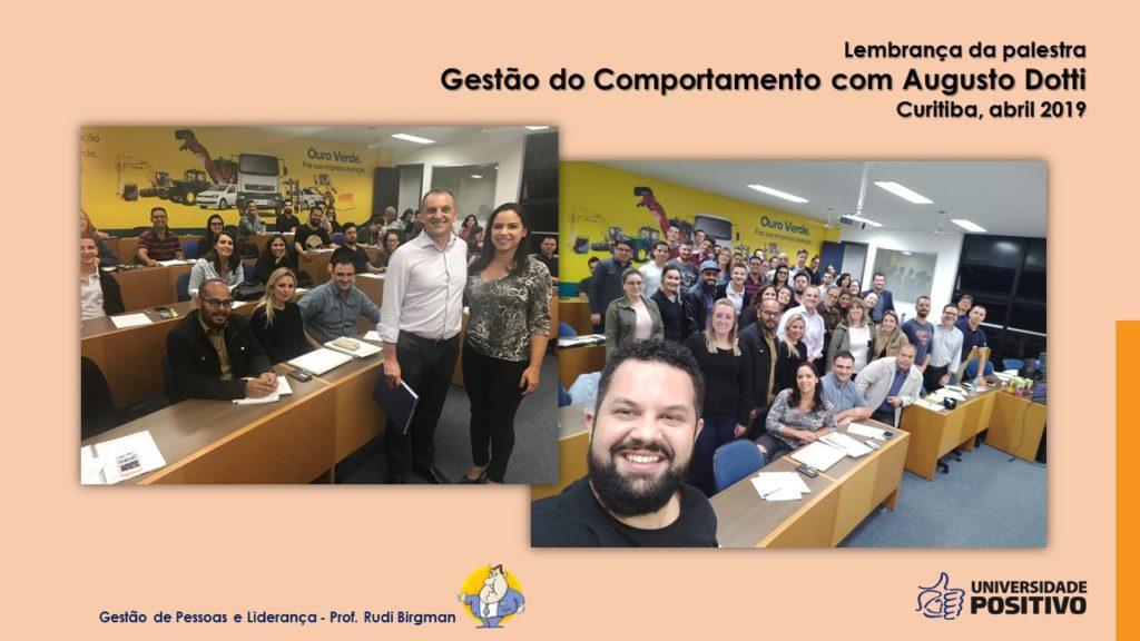 Palesta Gestão do Comportamento - Augusto Dotti - Pós UP 2109