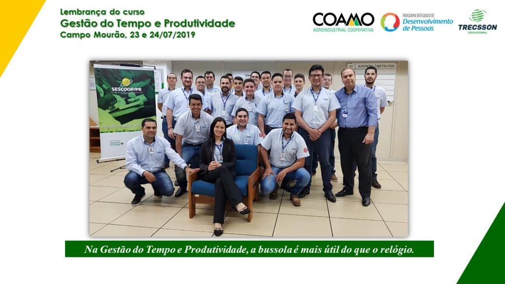 Teinamento in company - Gestão do Tempo e Produtividade - COAMO - Campo Mourão